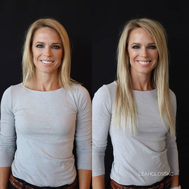 Can you wear your @naturalbeadedrowsextensions straight? Definitely!  look how seamlessly they blend ! @leahglosskc