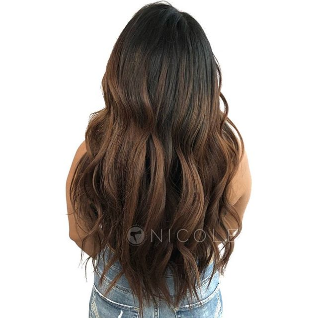 look at this beautiful soft balayage done by @nicole_b_blonding ! . Online booking at theglossarysalon.com or call us at 913-725-8520!!