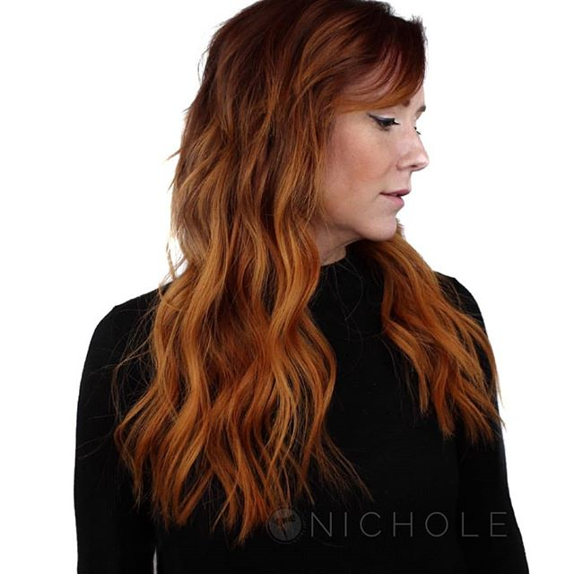 You would never know her hair was that short! . look what NBR can do for you . @nic.styling . Booking online at theglossarysalon.com or call 913.725.8520
